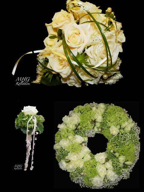 Blumenfrauen: Hochzeitsfloristik www.blumenfrauen.blogspot.de Hochzeit, weiss, Rosen, Autoschmuck, wedding, Floristik, Brautstrauß, Anstecken