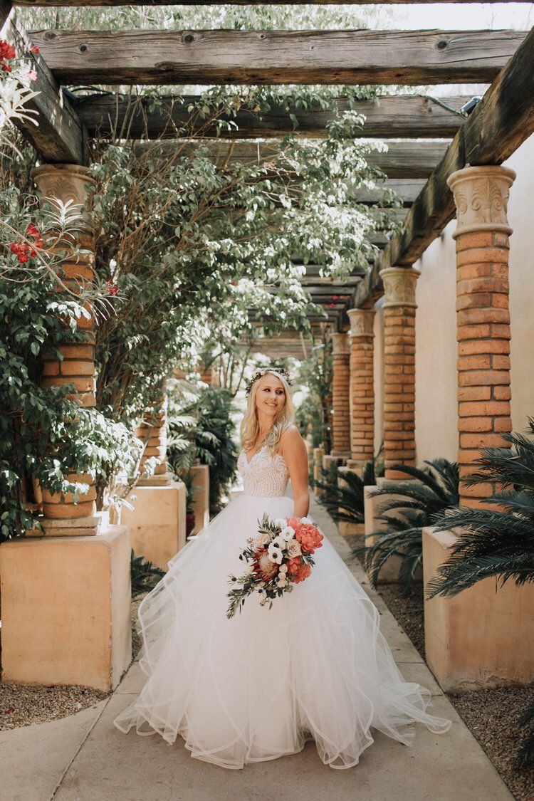 """3e69599260993 J Bride Chloe wearing Blush by #hayleypaige """"Pepper"""" Ball Gown #WeddingDress  with sparkle bodice and horsehair trim skirt / Photographer: Alexandra  Loraine ..."""