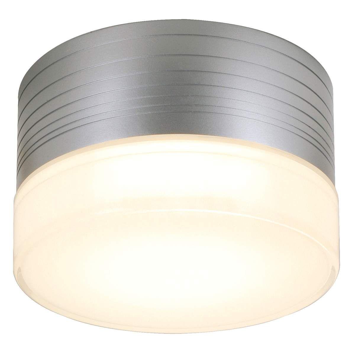 Außen Decken Leuchte rund Beleuchtung ALU Lampe Glas opal