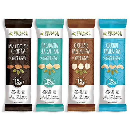 Primal Kitchen Grass Fed Collagen Protein Bars Variety Pack Of 16 바 포장 포장 디자인