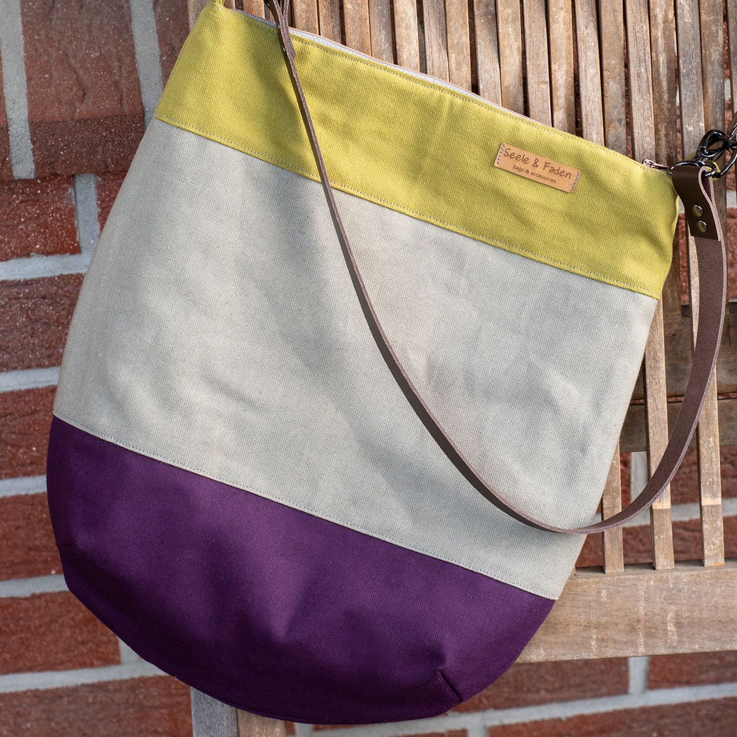 Kostenloses Schnittmuster: Tasche «Sole» | Snaply-Magazin