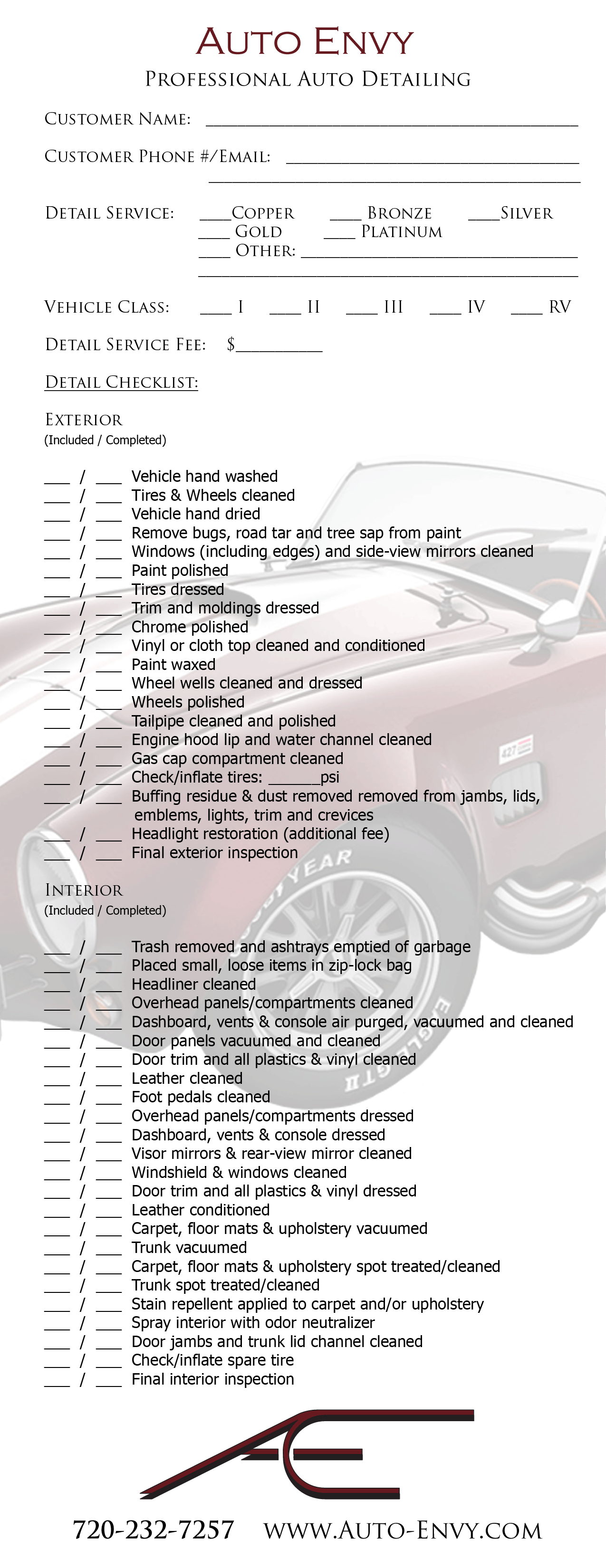 Car Inspection Checklist >> checklist-half-partial | Dry hands, Car detailing, Personalized items