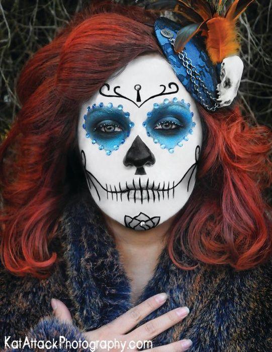 dia de los muertos masks photo