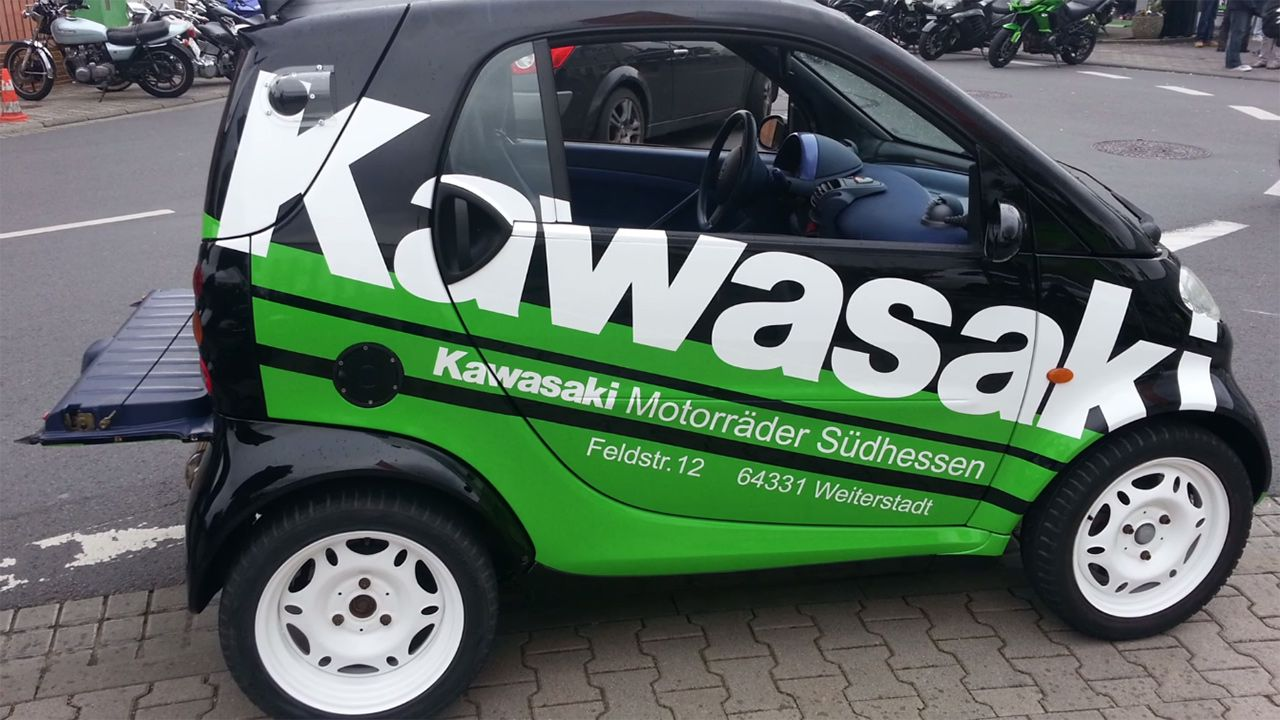 Smart Fortwo with a Kawasaki ZZR1400 Motorcycle Engine