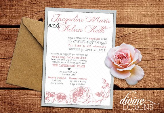 elegant wedding announcements lds wedding invitations rustic