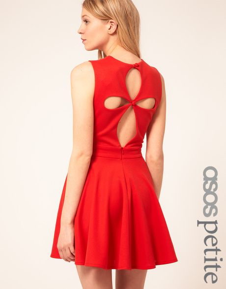 052d382c8fdc Women's Red Exclusive Skater Dress With Cut Out Back Detail | More ...