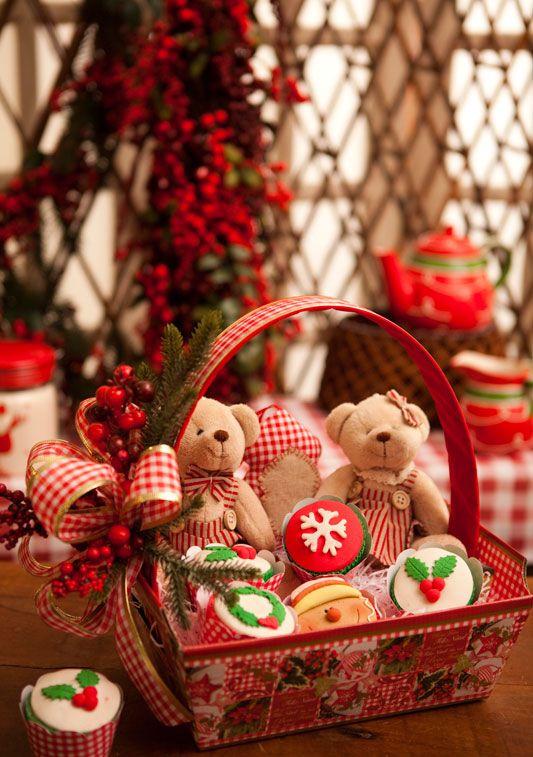 Cesta de patchwork para guloseimas 0 diy christmas craft - Decoracion navidena artesanal ...