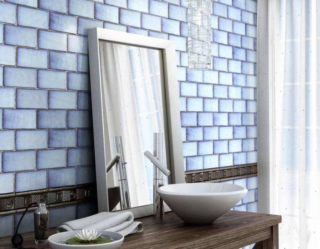 €75.00 sq mt Antique Blue Metro Tiles with a difference. Featuring a ...