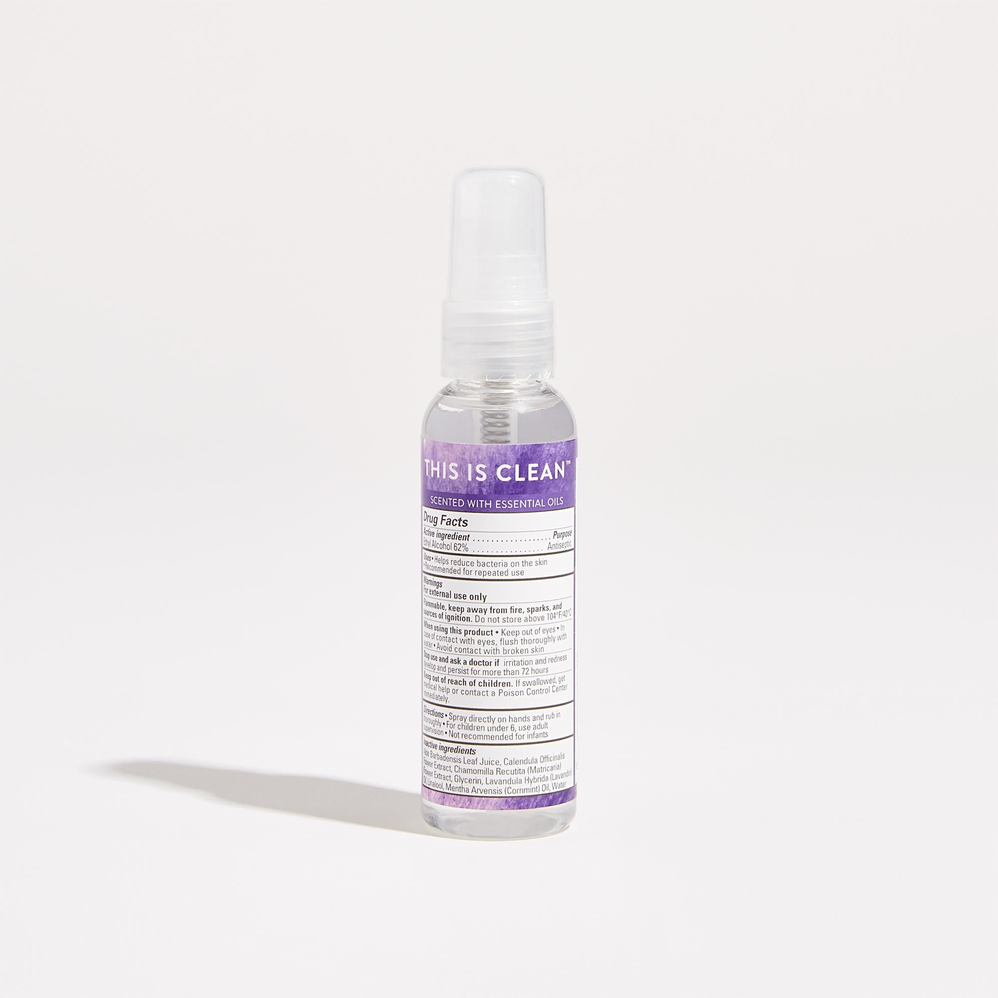 Hand Sanitizer Spray Lavender Field Hypoallergenic Plant Based