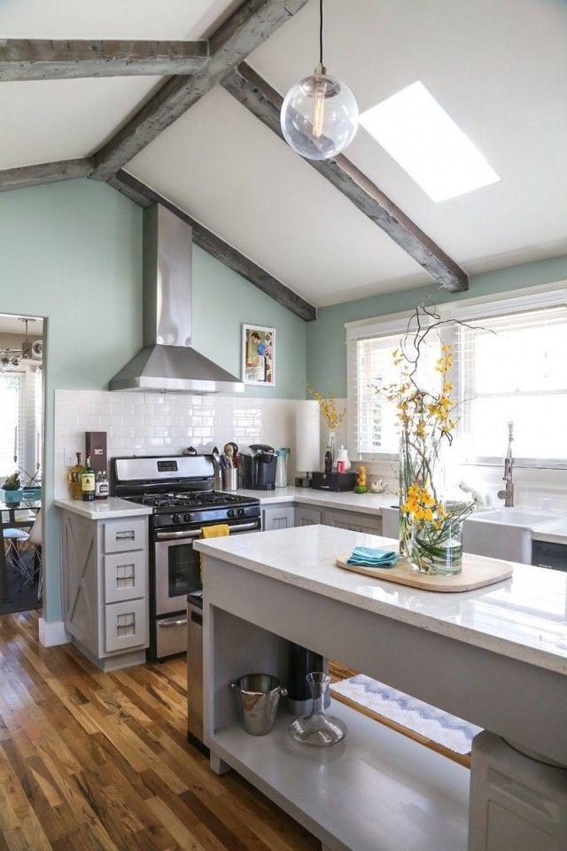 visite une maison avec le juste m lange de moderne et de vintage cuisine pinterest. Black Bedroom Furniture Sets. Home Design Ideas