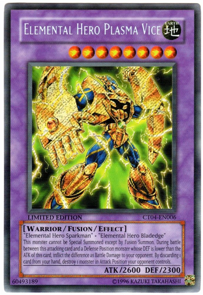 elemental hero plasma vice CT04-EN006 near mint yugioh card x1