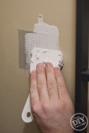 Drywall Patch Repair The Easy Way How To Patch Drywall Home Repair Diy Home Repair