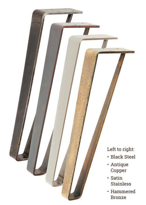 Industrial Metal Tapered Coffee Table Leg 16