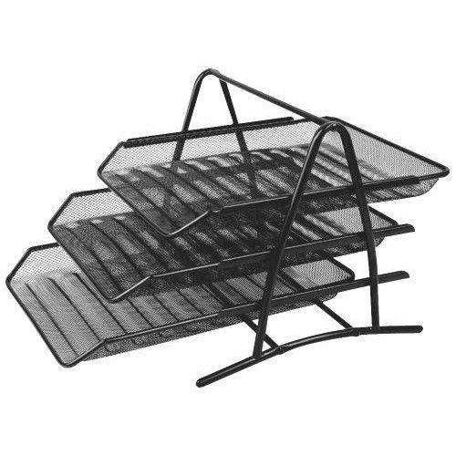 08ab73b8ae0f Asztali irattartó tálca fémhálós három emeletes - Fekete - Fémhálós  irodaszerek kategóriában - 3,490