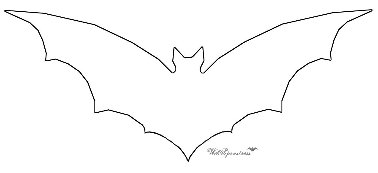 photo about Bat Outline Printable referred to as Pin upon Halloween