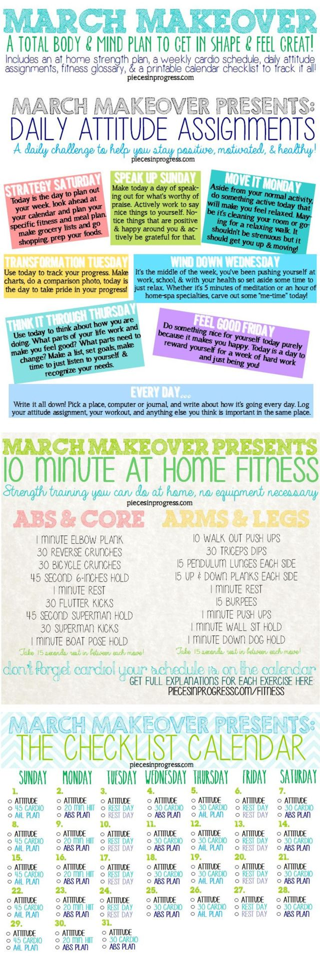 How to make a fitness plan at home pieces in progress living fit healthy happy photo exercise malvernweather Images