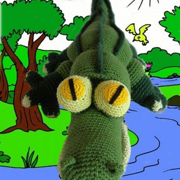 FREE CROCHET PATTERN CROCODILE DIY AMIGURUMI   animales en crochet ...