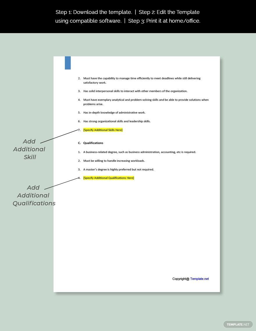 Free Business Development Associate Job Description Template Ad Ad Development Business Free Asso In 2020 Job Description Template Job Ads Meeting Planner