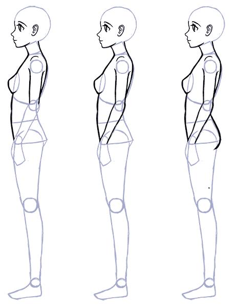 How To Draw Anime Side View Full Body Profile Manga Tuts Como Dibujar Cuerpo Anime Perfiles Dibujo Dibujos Con Figuras