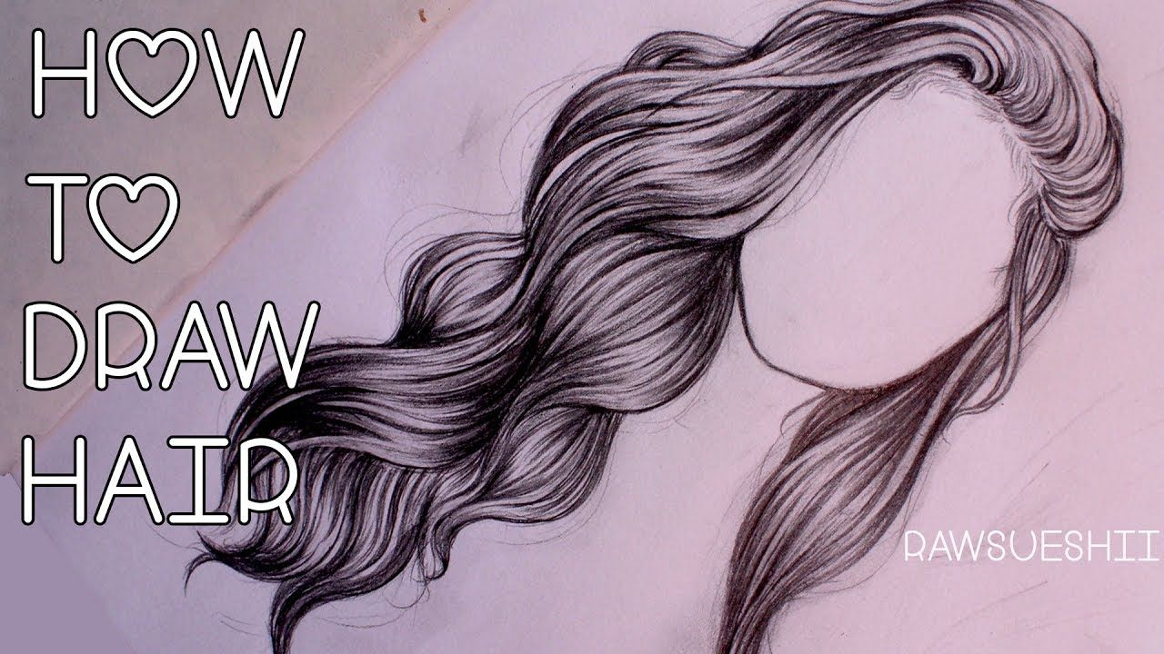How to draw hair step by step by christina lorre hildur k o howtodraw draw hair drawing
