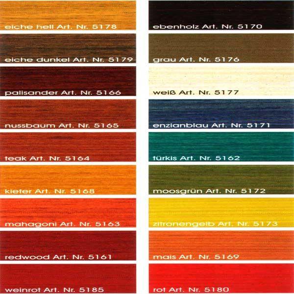 Farbpalette Biofa Holzlasuren Losemittelfrei Naturfarben Farben
