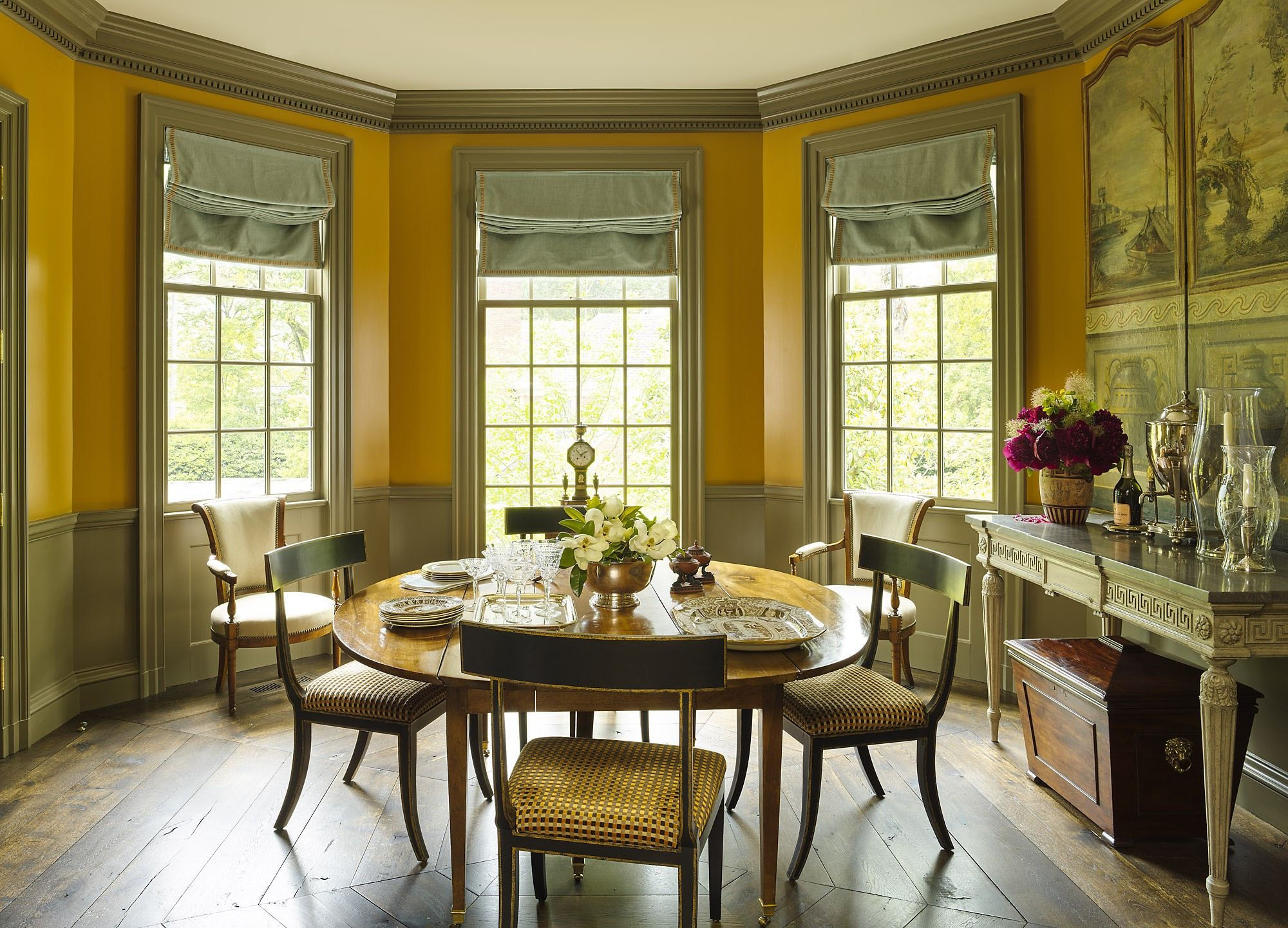 Neoclassical Dining Room House In Birmingham By James F Carter