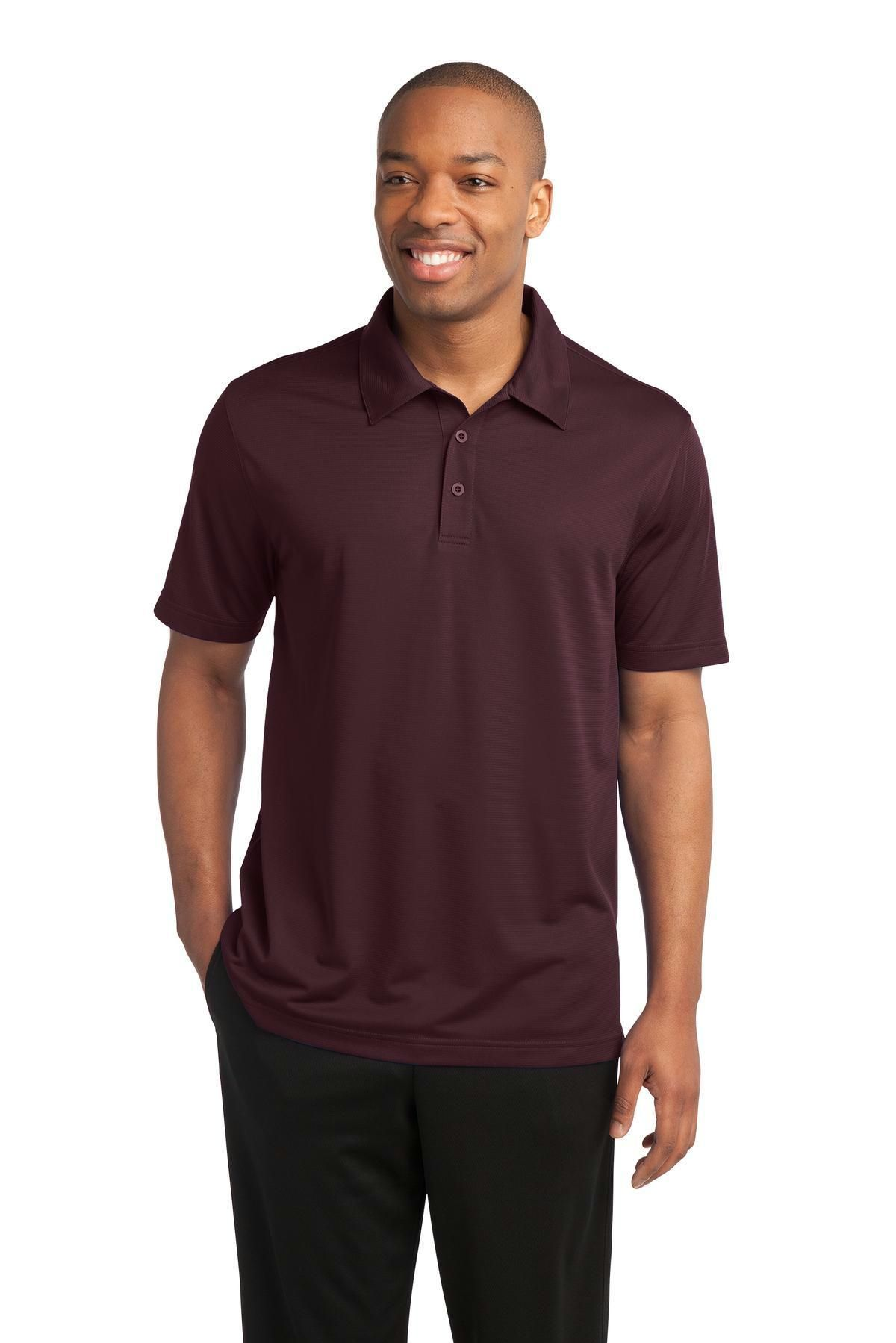 SportTek PosiCharge Active Textured Polo. ST690 Sports