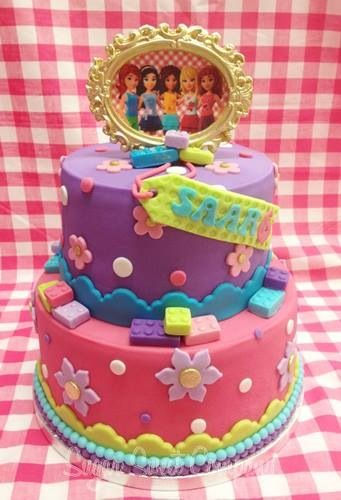 Little Girls Birthday Cake Sugar Sweet Company Friends