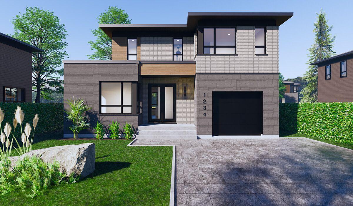 Façade en 2020 (avec images) | Plan maison, Maison a etage, Projet maison