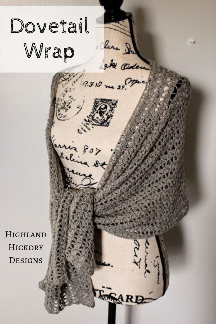 Dovetail Wrap #prayershawls