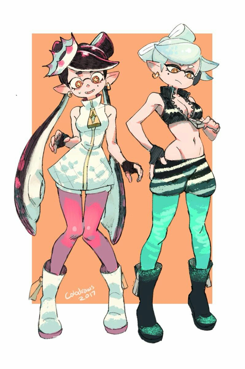 Callie And Marie As Pearl And Marina Splatoon Comics Splatoon