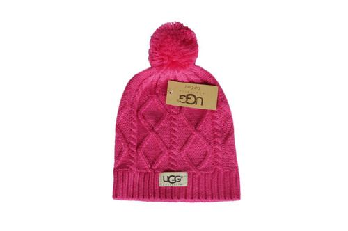 UGG Winter Outdoor Sports Warm Knit Beanie Cap Pom Pom  b500e1c9b14