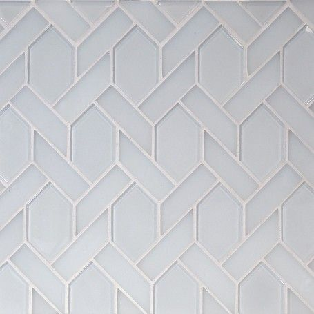 The Tile District Astoria Elongated Hexagon In A White Glass