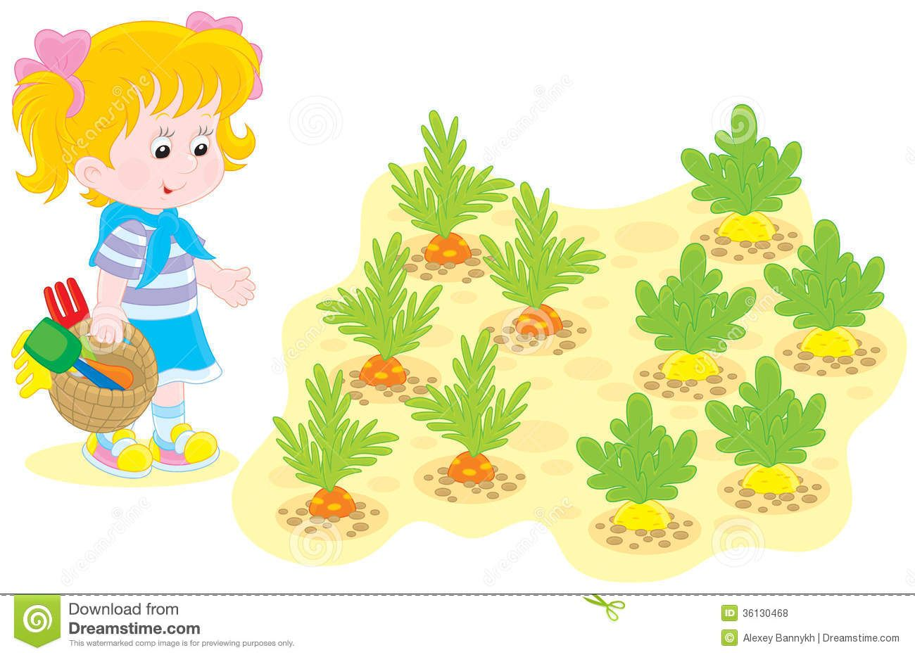 Vegetable Garden Graphic With Clipart Kids