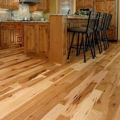 5 Wide Hickory Flooring Prefinished Solid Natural Wood Ebay New