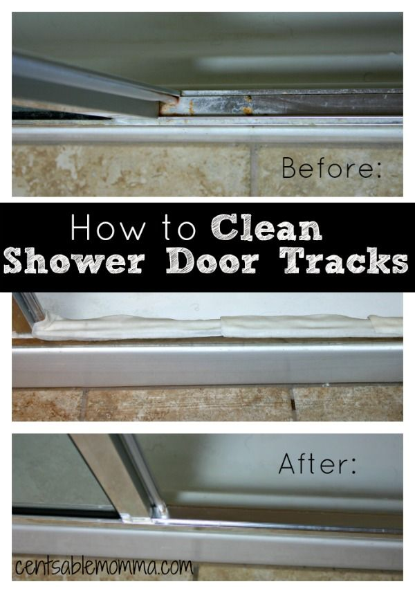 How To Clean Your Shower Door Tracks Diy Cleaning Tips Pinterest