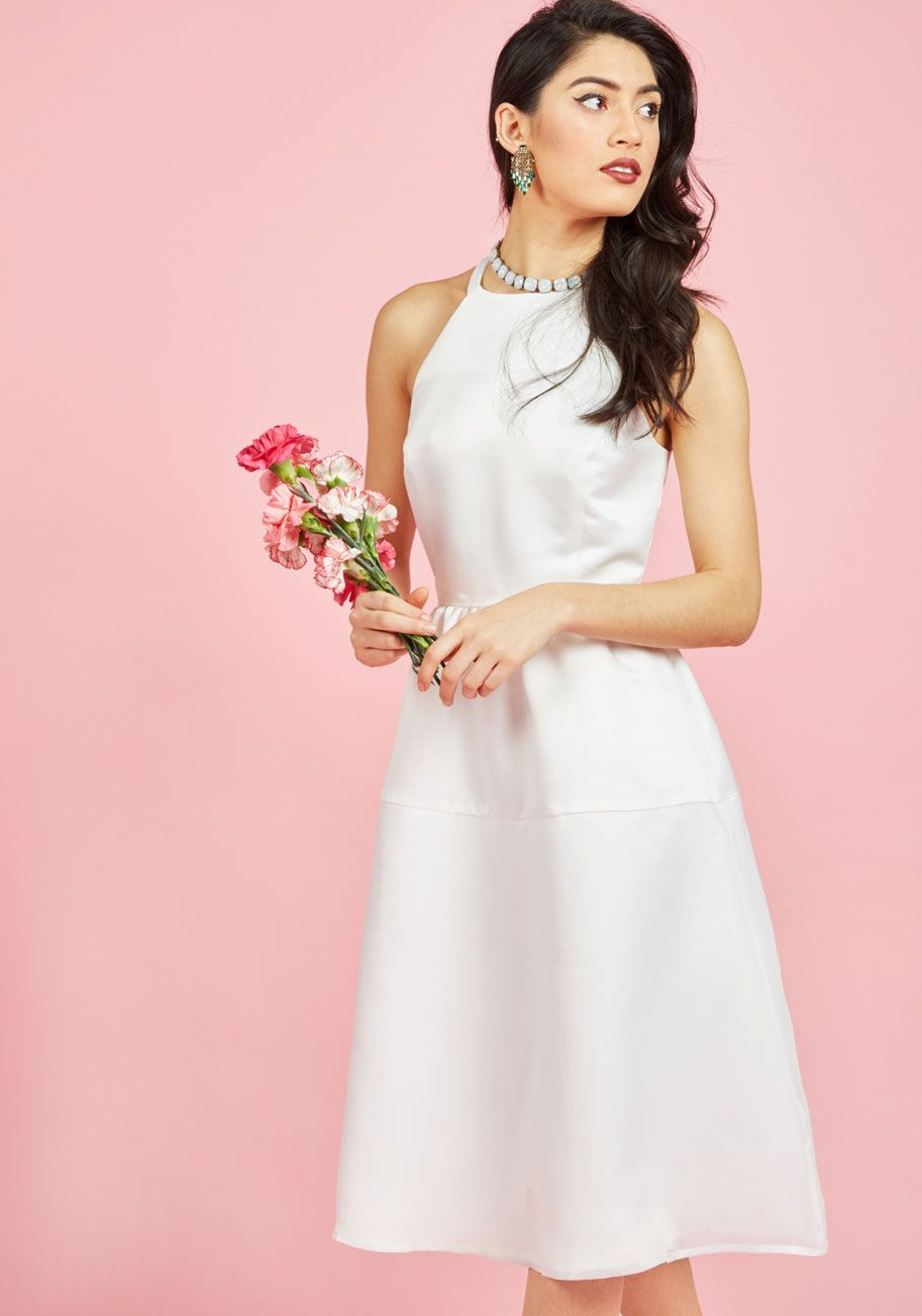 Cinematic Classic Fit and Flare Dress in Ivory, @ModCloth | Modcloth ...