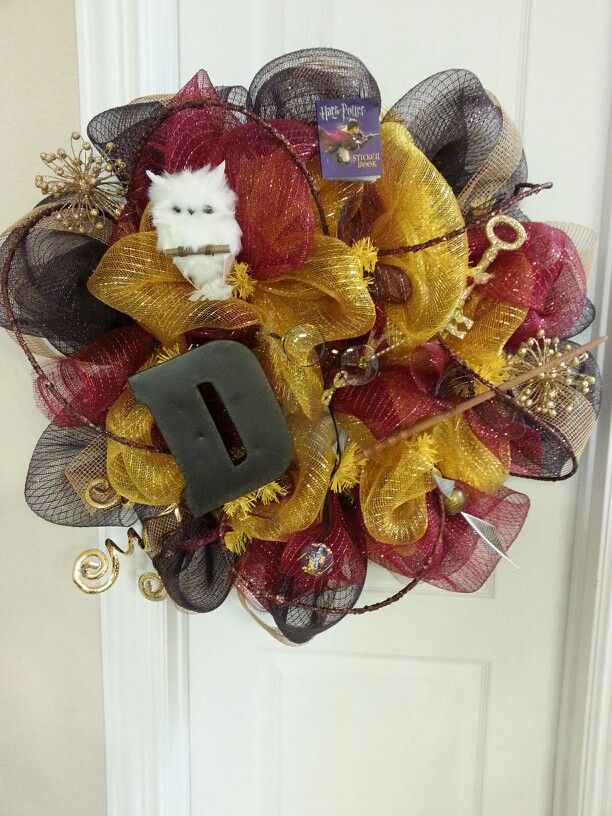 Harry potter theme wreath door or wall hanger