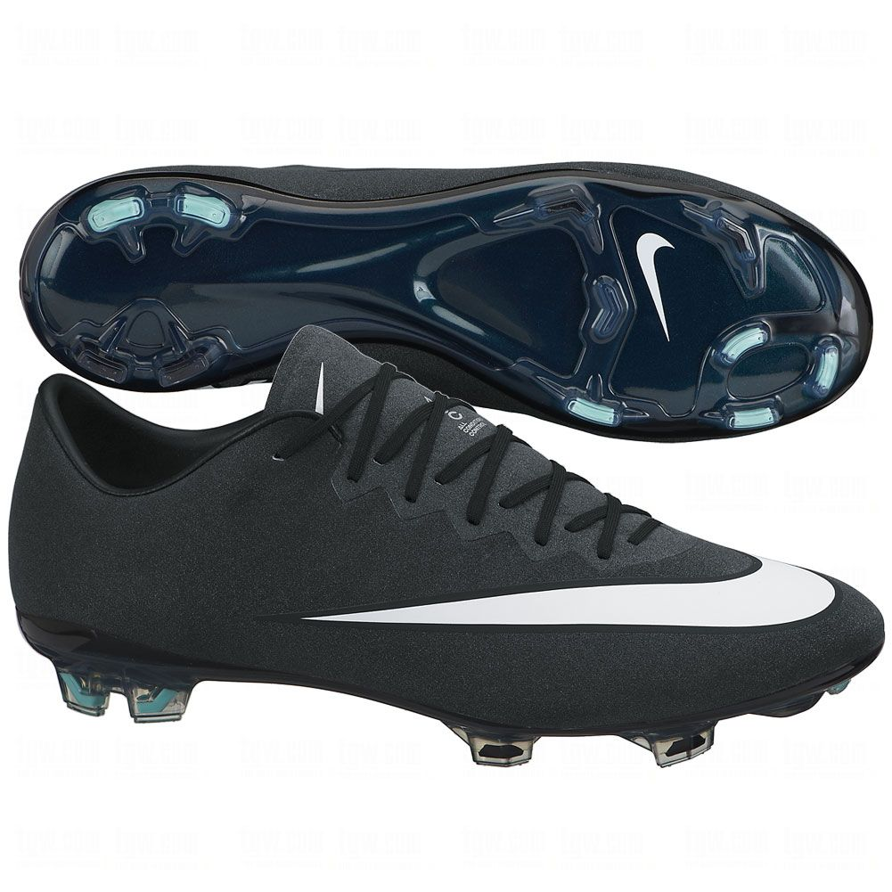 Nike Performance MERCURIAL VAPOR X CR7 FG Football boots metallic  silver/white/hyper turquoise
