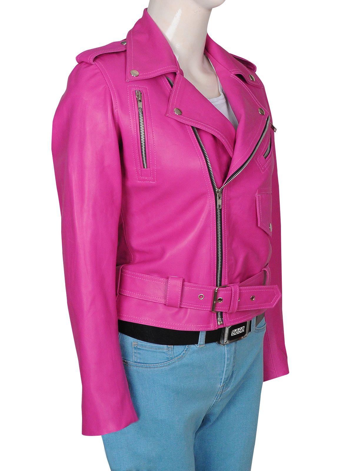87b164d08 Fucshia Pink Hot Girl Leather Jacket