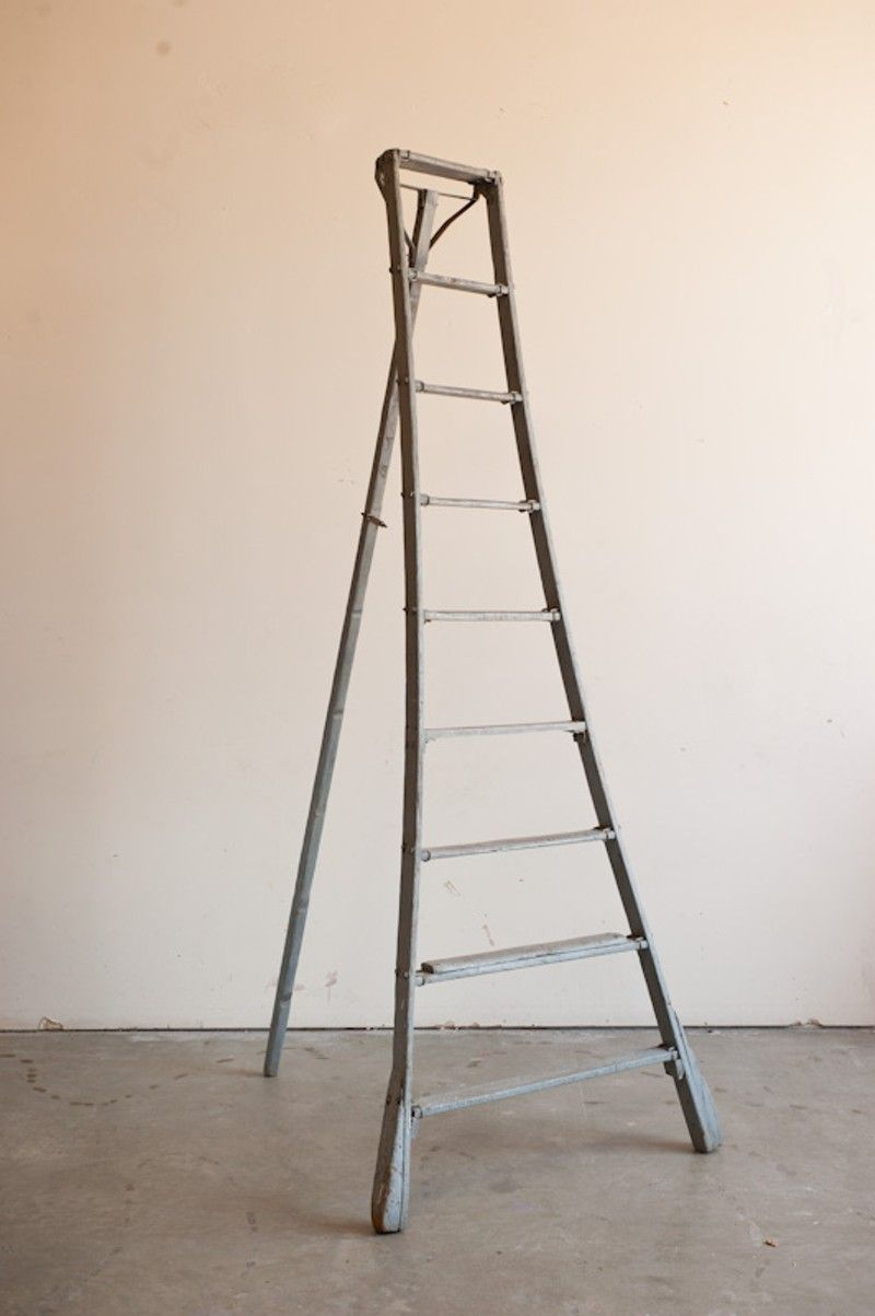 3 Apple Ladders Vintage Ladders Work Well In Many Spaces Vintage Ladder Ladder Repurposed Ladders