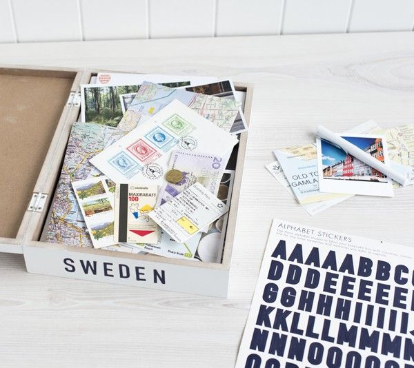 Gather mementos from your adventures and keep them in this keepsake box to cherish forever. #kikkiK #travel