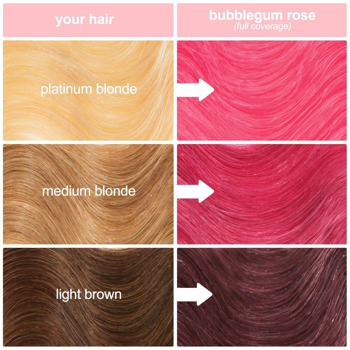 Bubblegum Rose Hair Color Warm Rose Pink Hair Tint Unicorn