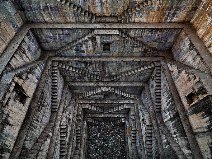 """""""Water"""" by Ed Burtynsky is a jaw-dropping survey in photos and film about the most essential substance to life on Earth. Image: Stepwell in Bundi (India) by Ed Burtynsky"""