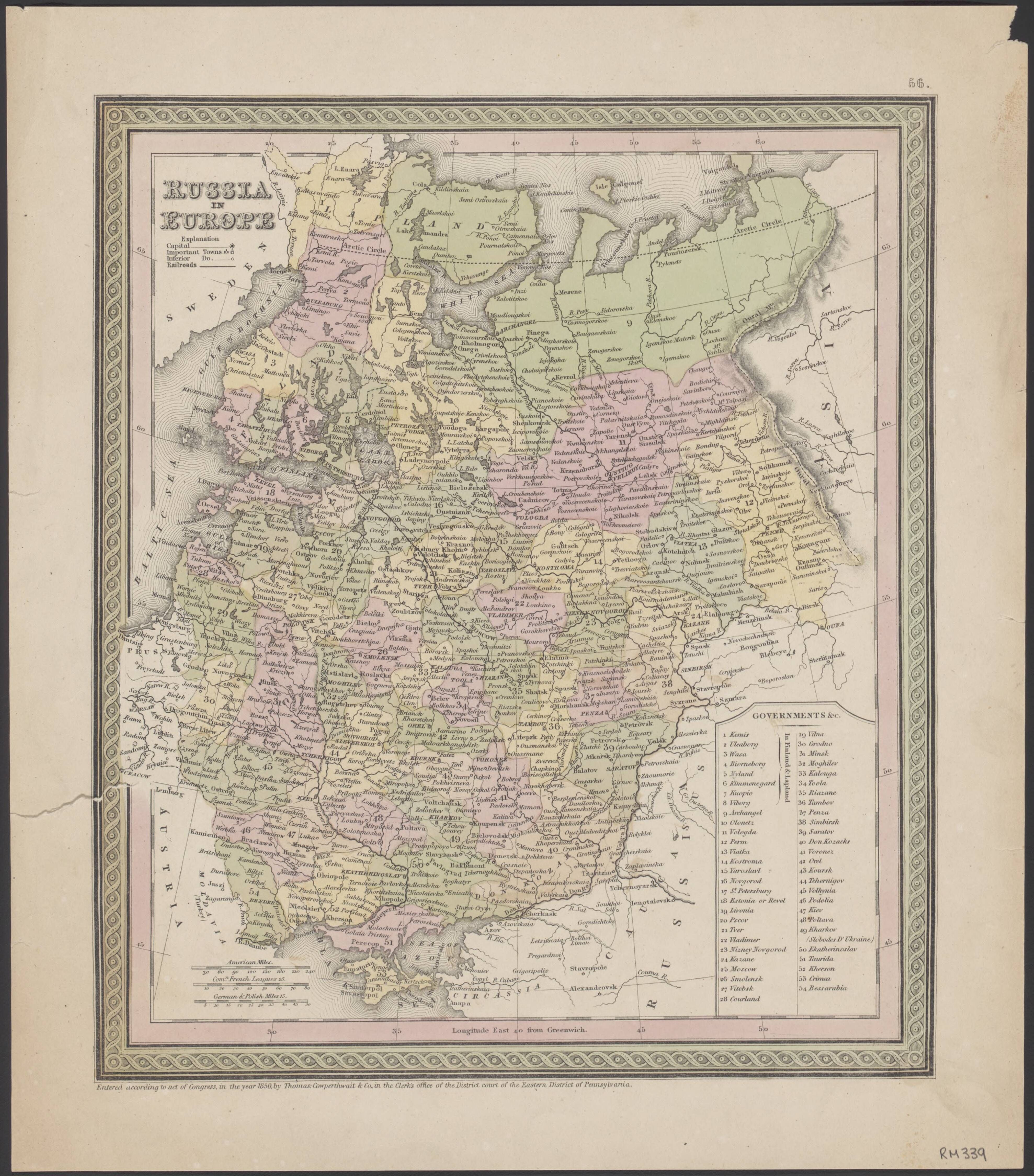 Russia in Europe, 1850 | mapmania | Imperial russia, Map, Europe