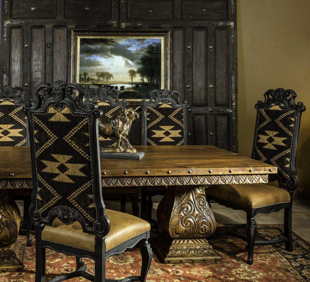 Western Rustic Elegant Dining Tables Adobeinteriors Com