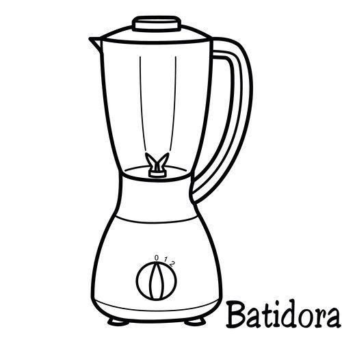 Batidora Dibujos Para Colorear Dibujos Y Cocinar Dibujo