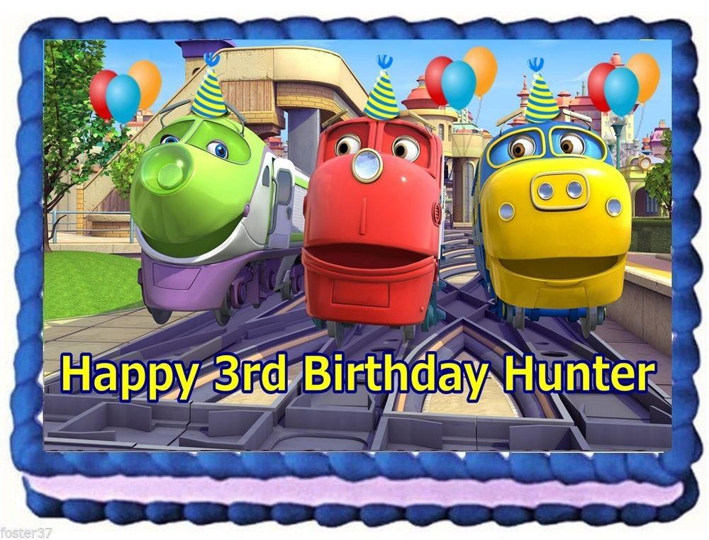 CHUGGINGTON Birthday Image Edible Cake topper Edible cake Cake