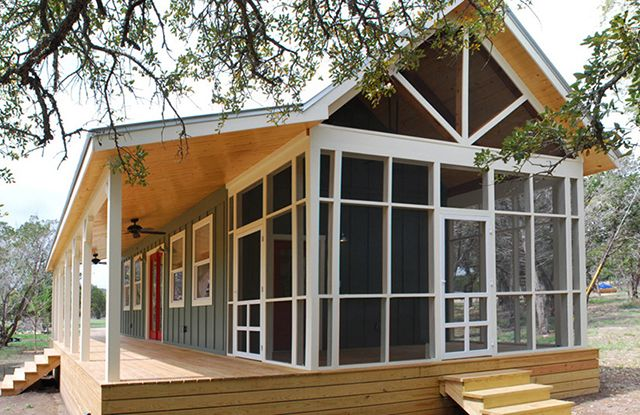 Prefabricated Porches beautiful 480 sq ft prefab cabin with screened porch - sustainable