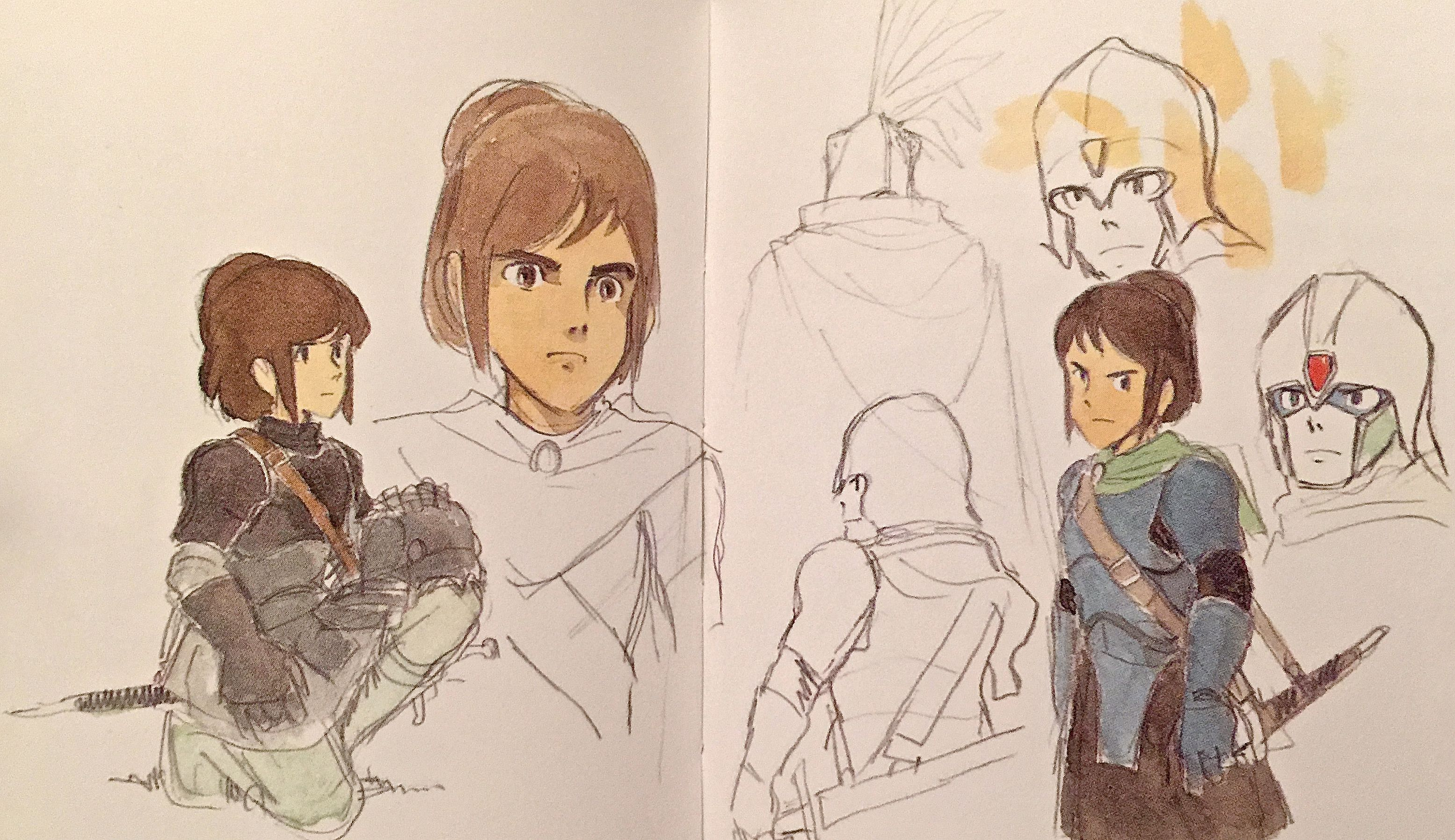 Period Drama Motif ===== The drawings Miyazaki accumulated between 1980-1982 formed the basis for the work of Nausicaa to Princess Mononoke; however, he added more science fiction elements to Nausicaa. ===== Sengoku Majo